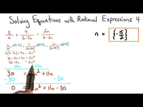 Solving Equations with Rational Expressions Practice 4 - Visualizing Algebra thumbnail