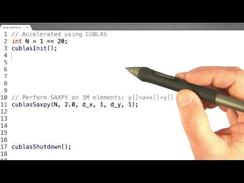 cuBLAS - Intro to Parallel Programming thumbnail