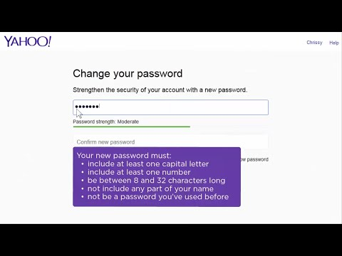 Change your Yahoo password thumbnail