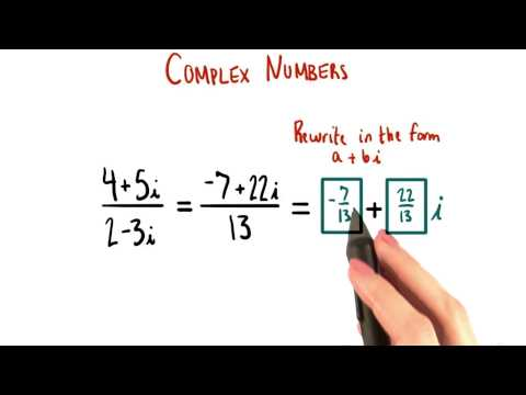 Rewrite as a+bi - College Algebra thumbnail