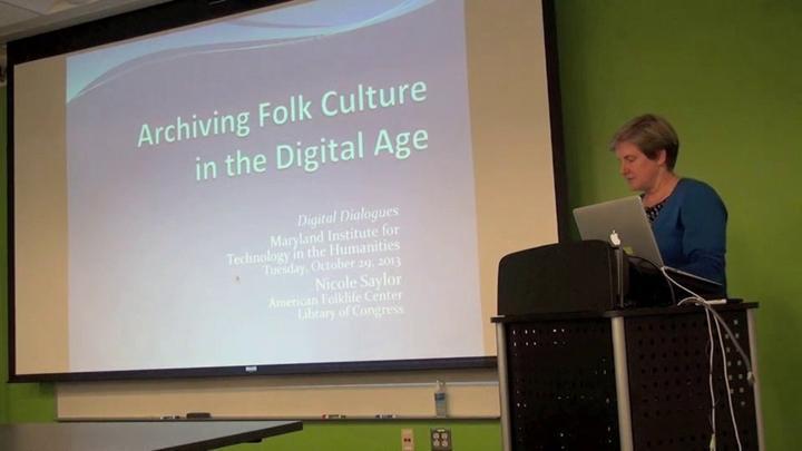 Nicole Saylor: Archiving Folk Culture in the Digital Age