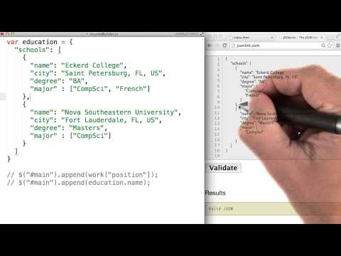 Validating JSON - JavaScript Basics thumbnail