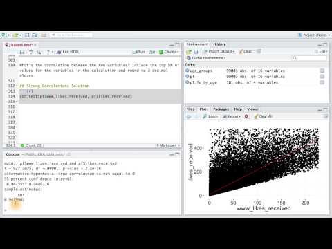 Strong Correlations - Data Analysis with R thumbnail