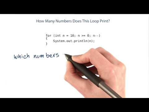 How Many Numbers Does This Loop Print - Intro to Java Programming thumbnail