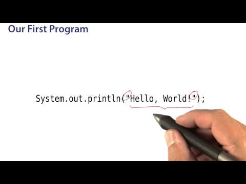 Our First Program - Intro to Java Programming thumbnail