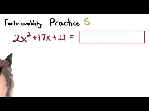 Factoring Practice 5 - Visualizing Algebra thumbnail