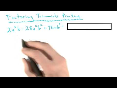 Factoring Practice 10 - Visualizing Algebra thumbnail