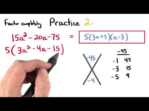 Factoring Practice 2 - Visualizing Algebra thumbnail
