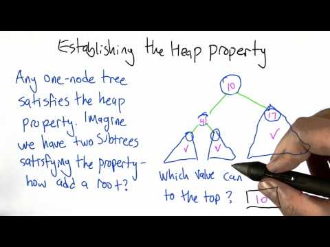 Establishing The Heap Property Solution - Intro to Algorithms thumbnail