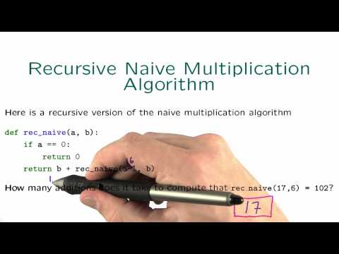 Recursive Naive Solution - Intro to Algorithms thumbnail