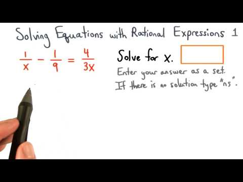 Solving Equations with Rational Expressions Practice 1 - Visualizing Algebra thumbnail