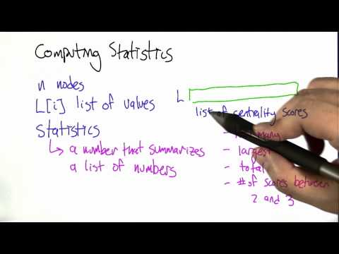 Computing Statistics - Intro to Algorithms thumbnail