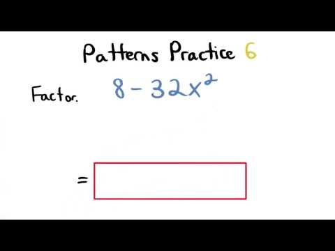 Factoring Patterns Practice 6 - Visualizing Algebra thumbnail