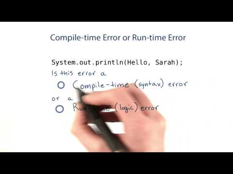 Compile-Time and Runtime Errors - Intro to Java Programming thumbnail