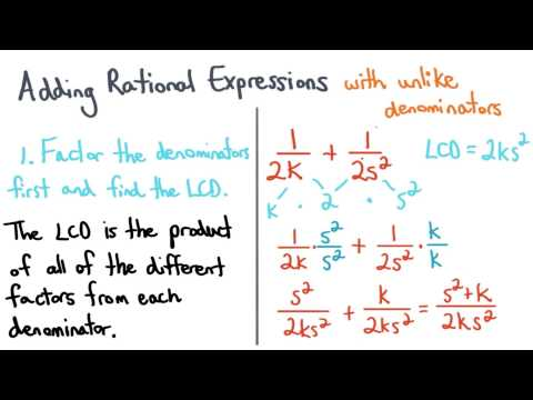 The LCD and Adding Rational Expressions - Visualizing Algebra thumbnail