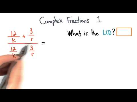 Complex Fractions Find the LCD 1 - Visualizing Algebra thumbnail
