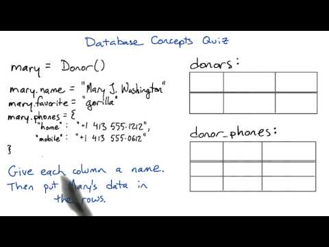 Database Concepts  - Intro to Relational Databases thumbnail