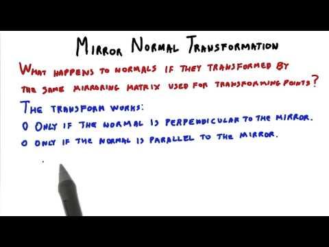 Mirror Normal Transformation - Interactive 3D Graphics thumbnail