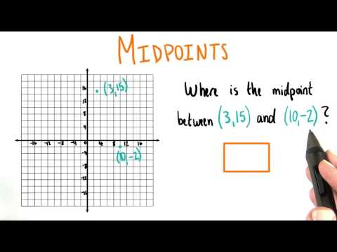 Midpoints - College Algebra thumbnail