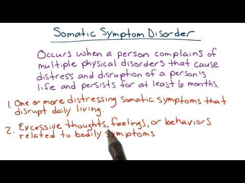 Somatic symptom disorder - Intro to Psychology thumbnail