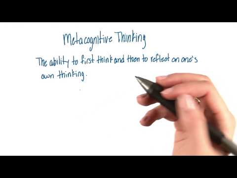 Metacognitive thinking - Intro to Psychology thumbnail