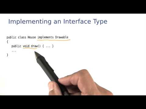 Implementing an Interface Type - Intro to Java Programming thumbnail