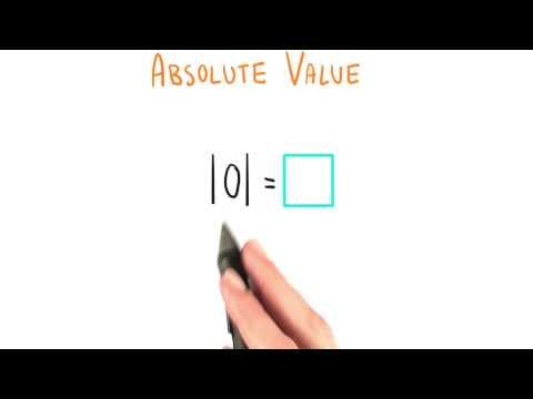 Absolute Value of Zero - College Algebra thumbnail
