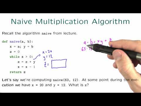 Naive Multiplication Algorithm Solution - Intro to Algorithms thumbnail