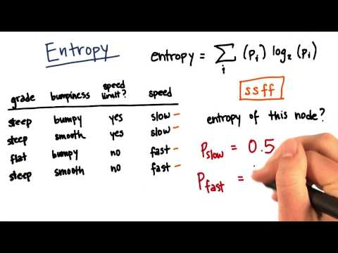 Entropy Calculation Part 4 - Intro to Machine Learning thumbnail