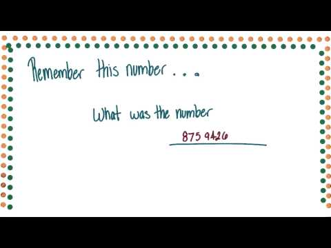 Remember this number - Intro to Psychology thumbnail