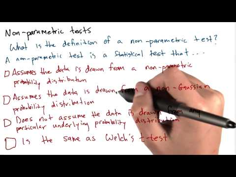 Definition of Non-Parametric Test - Intro to Data Science thumbnail
