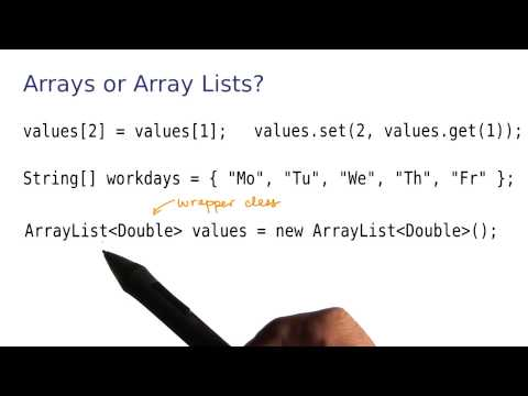 Arrays or ArrayLists - Intro to Java Programming thumbnail