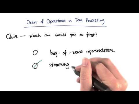 Order of Operations in Text Processing - Intro to Machine Learning thumbnail