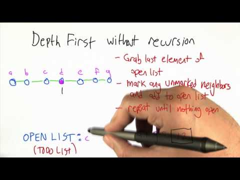 Depth First without Recursion - Intro to Algorithms thumbnail