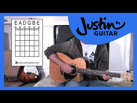 Names Of Open Strings (Guitar Lesson BC-133) Guitar for beginners Stage 3  thumbnail
