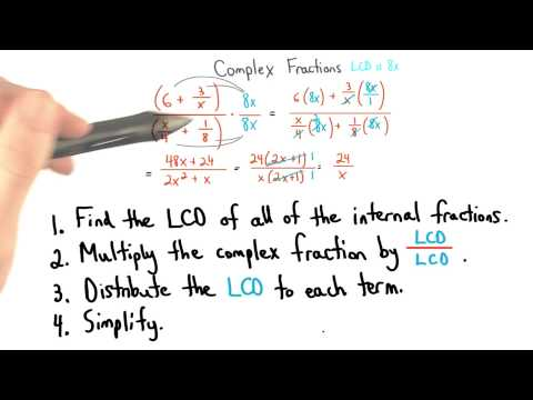 Complex Fractions Summary - Visualizing Algebra thumbnail