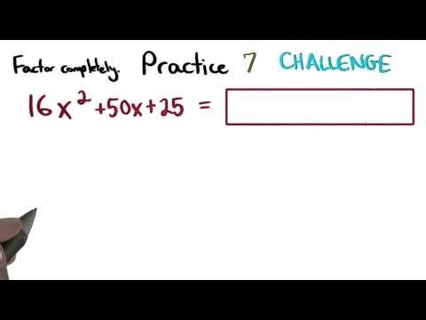 Factoring Practice 7 - Visualizing Algebra thumbnail