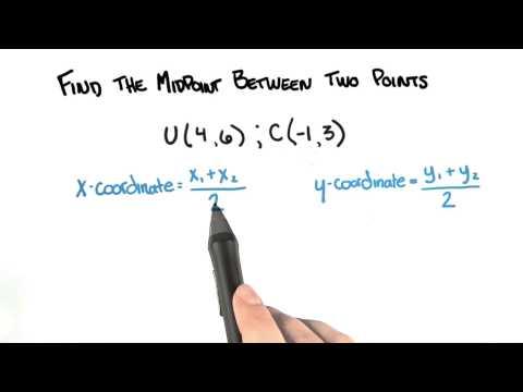 Midpoint - College Algebra thumbnail