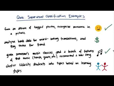 Supervised Classification Example - Intro to Machine Learning thumbnail