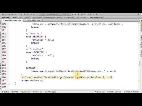 05-14 Code the ContentProvider query() thumbnail
