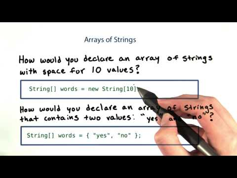 Array of Strings - Intro to Java Programming thumbnail
