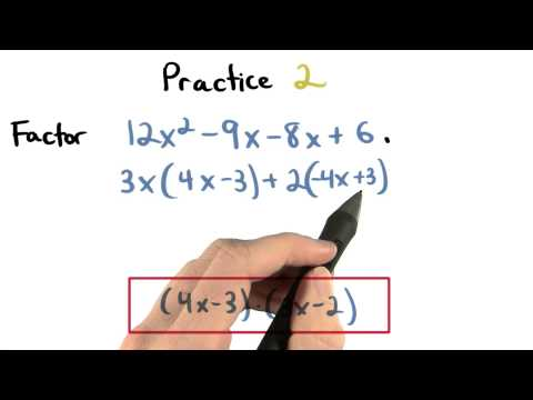 Factor by Grouping Practice 2 - Visualizing Algebra thumbnail