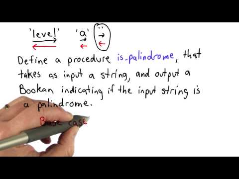 Palindromes - Intro to Computer Science thumbnail