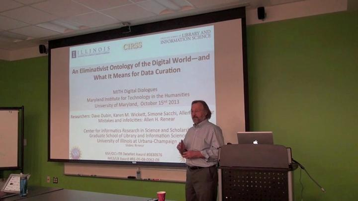 Allan Renear: An Eliminativist Ontology of the Digital World—and What It Means for Data Curation