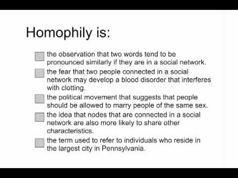 Homophily - Intro to Algorithms thumbnail