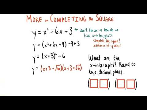 Rounding x intercepts - College Algebra thumbnail