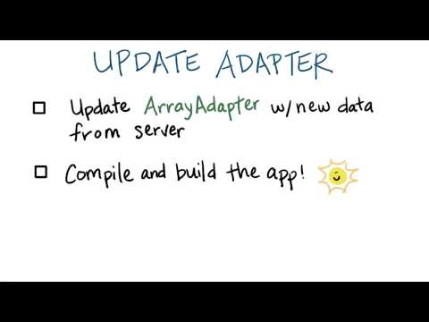 Update the Adapter - Developing Android Apps thumbnail