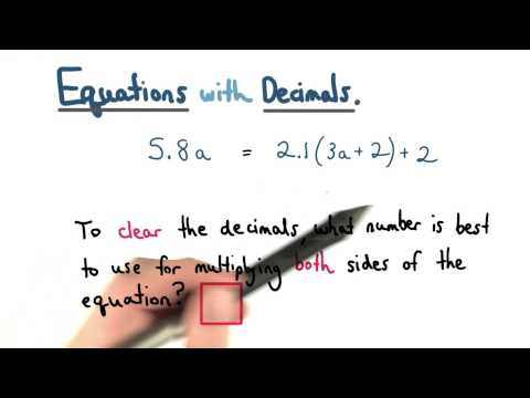Clearing Decimals - Visualizing Algebra thumbnail