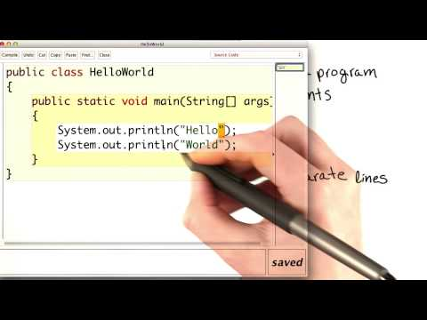Hello World Two Lines - Intro to Java Programming thumbnail