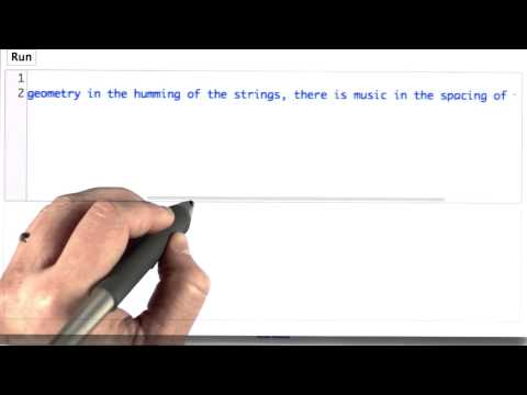 Finding Strings in Strings - Intro to Computer Science thumbnail